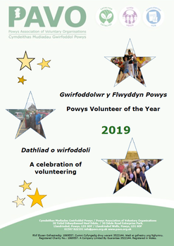 Powys Volunteer of the Year souvenir booklet